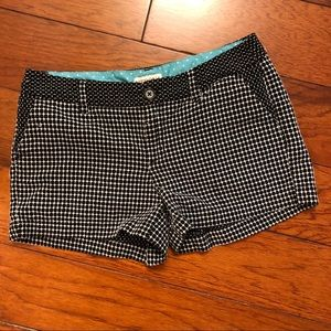Merona black and white shorts